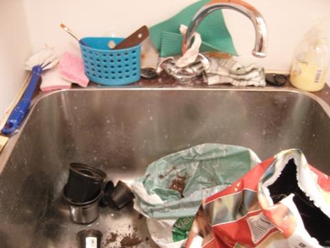Utslagsvask på vaskerommet. Skinner absolutt ikke.